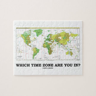 Which Time Zone Are You In? (Standard Time Zones) Puzzles