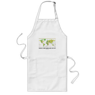 Which Time Zone Are You In? (Time Zones World Map) Long Apron