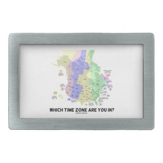 Which Time Zone Are You In? (United States Canada) Rectangular Belt Buckle