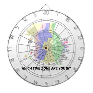 Which Time Zone Are You In? (United States Canada) Dart Boards