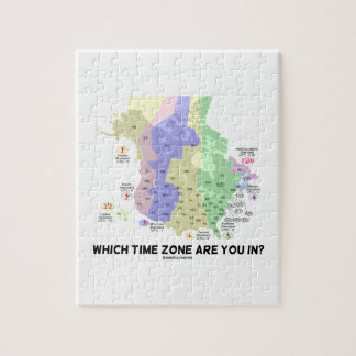 Which Time Zone Are You In? (United States Canada) Puzzle