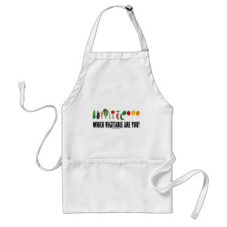 Which Vegetable Are You? (Vegetarian Humor) Adult Apron