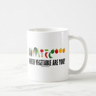 Which Vegetable Are You? (Vegetarian Humor) Coffee Mug