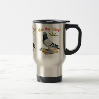 Which Way is Home Pigeon Art Mug