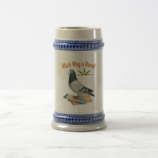 Which Way is Home Pigeon Art Mugs