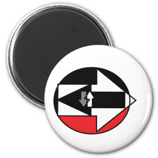 WHICH WAY IS LIFE? 2 INCH ROUND MAGNET