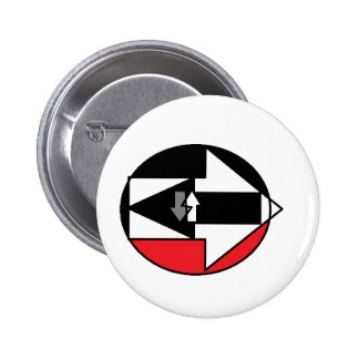 WHICH WAY IS LIFE? PINBACK BUTTONS