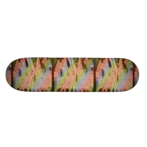 Which Way Out Art Skateboard