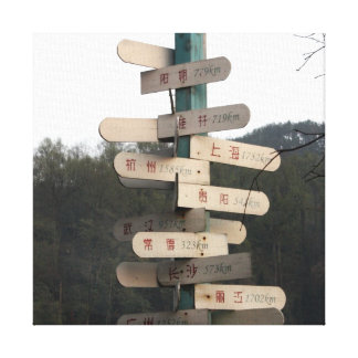 Which way? Signposts in China. Canvas Print