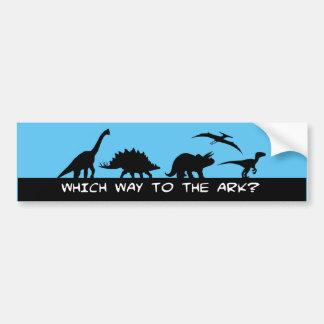 Which Way to the Ark? Bumper Sticker