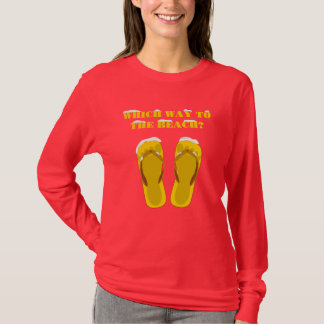Which way to the beach (gold) T-Shirt
