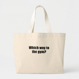 Which Way to the Gym Large Tote Bag