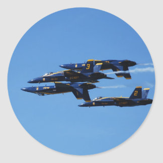 Which Way to Up? Blue Angels Customizable Classic Round Sticker