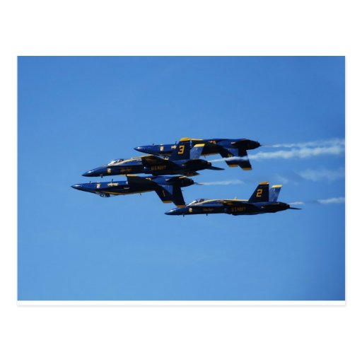 Which Way to Up? Blue Angels Customizable Postcards