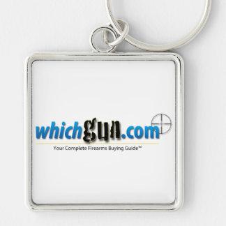 WhichGun.com Premium Keychain - Square