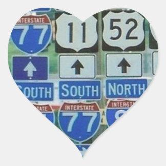 Whichwayville Heart Sticker