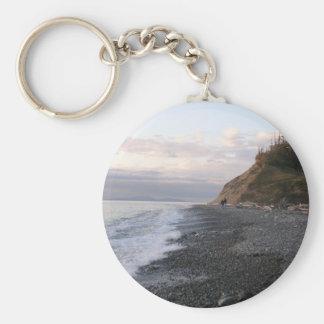Whidbey Island Sunset Basic Round Button Keychain