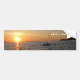 Whidbey Island Sunset with Text Car Bumper Sticker