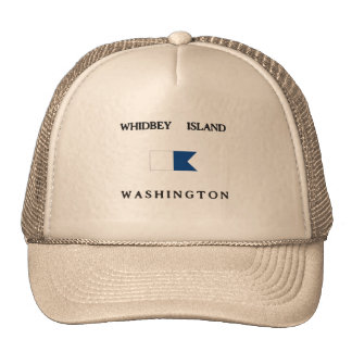 Whidbey Island Washington Alpha Dive Flag Mesh Hat