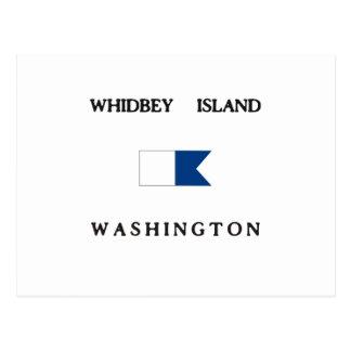 Whidbey Island Washington Alpha Dive Flag Postcard