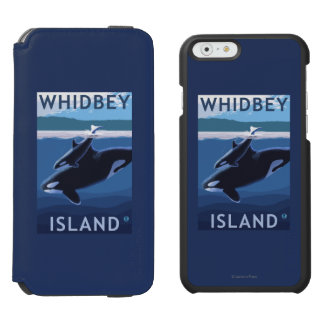 Whidbey Island, WashingtonOrca and Calf iPhone 6/6s Wallet Case