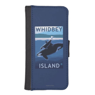 Whidbey Island, WashingtonOrca and Calf iPhone SE/5/5s Wallet Case