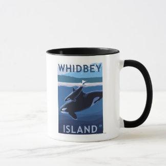 Whidbey Island, WashingtonOrca and Calf Mug