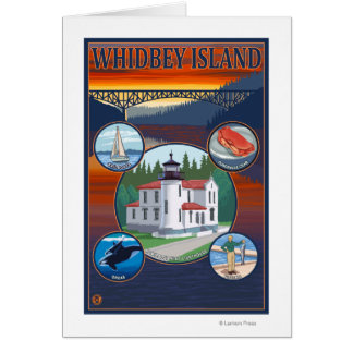 Whidbey Island, WashingtonScenic Travel Poster Card