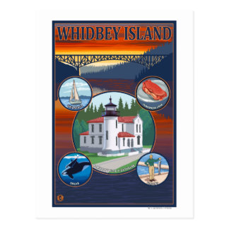 Whidbey Island, WashingtonScenic Travel Poster Postcard