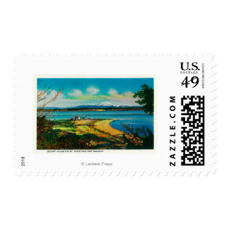 Whidby Island and Mt. Baker from Port Townsend Postage