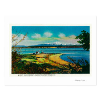 Whidby Island and Mt. Baker from Port Townsend Post Cards