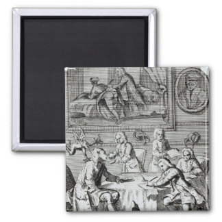 Whig Satire on Negotiations 2 Inch Square Magnet
