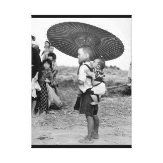 While big brother's attention is riveted_War Image Canvas Print
