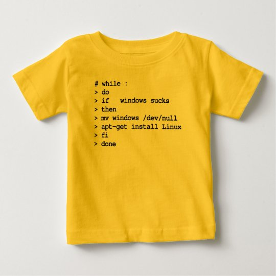 while : do (apparel) baby T-Shirt