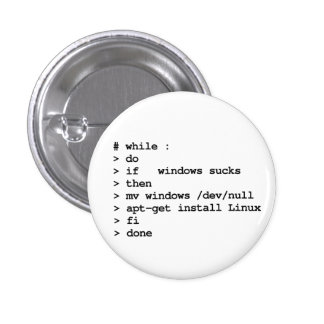 while : do pinback buttons