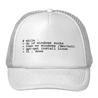 while : do trucker hat