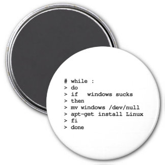 while : do (large magnet)