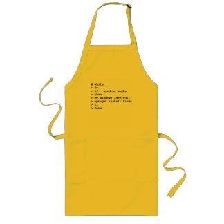 while : do long apron