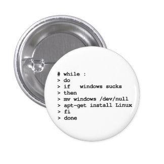 while : do pinback button