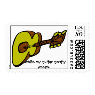 while my guitar gently weeps stamp