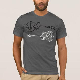 while my guitar, geometric t-shirt stamp