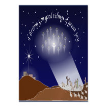 While Shepherds Watched Their Flocks Magnetic Card