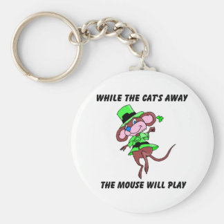 While the cats away the mouse will play gift key chain
