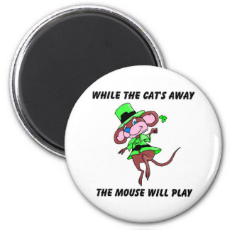 While the cats away the mouse will play gift refrigerator magnets