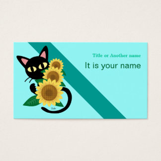 Whim with Sunflower Business Card