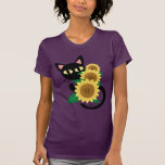 Whim With Sunflower T-shirt at Zazzle