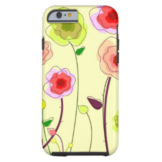 Whimiscal florece la caja del iPhone 6 Funda Resistente iPhone 6