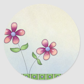 Whimiscal Little Flowers Blank Stickers