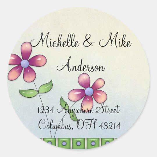 Whimiscal Little Flowers Return Address Labels
