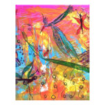 Whimisical Birds and Bugs Art Painting Personalized Letterhead